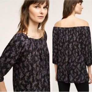 ANTHRO DELETTA Floral Blouse